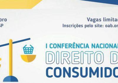 04 E 05 DE OUTUBRO: I Conferência Nacional de Direito do Consumidor
