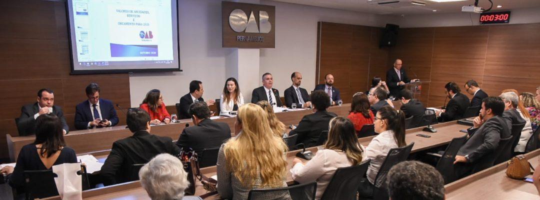 OAB-PE mantém valor da anuidade para 2020