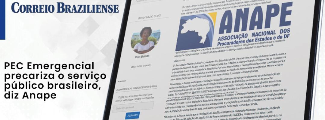 ANAPE: PEC Emergencial precariza serviço público