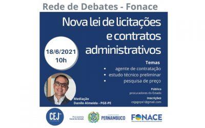 PGE-PE abre Rede de Debates do Fonace